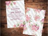 Shabby Chic Wedding Shower Invitations Shabby Chic Bridal Shower Invitation Vintage Roses and Grey