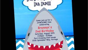 Shark Birthday Invitation Template Shark Birthday Invitation Printable Party Invite by