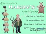 Shaun the Sheep Birthday Party Invitations D W Party Designs Children S Party organiser In the
