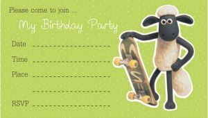 Shaun the Sheep Birthday Party Invitations Free Printable Birthday Invitations for Boys – Bagvania