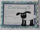 Shaun the Sheep Birthday Party Invitations Items Similar to Shaun the Sheep 10 Personalized Sheep
