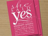 She Said Yes Bridal Shower Invitations Bridal Shower Invite Printable She Said Yes by Cardsetcetera