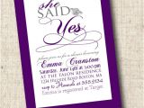 She Said Yes Bridal Shower Invitations Printable Bridal Shower Invitation She Said Yes Bridal