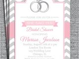 She Said Yes Bridal Shower Invitations She Said Yes Invitation Printable or Printed with Free