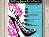 Shoe themed Bridal Shower Invitations solemate Bridal Shower Shoe themed by Pinklittlenotebook