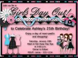Shopping Party Invitation Girls Day Out Birthday Party Invitation Bachelorette