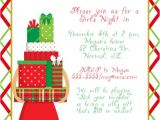 Shopping Party Invitation Wording Girls Night Shopping Christmas Party Invitations