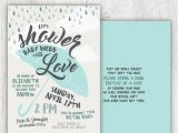 Showered with Love Baby Shower Invitations Printable Baby Shower Invitation Showered with Love