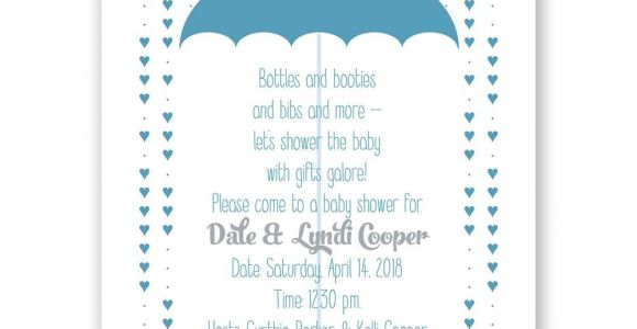Showered with Love Baby Shower Invitations Showered with Love Petite Baby Shower Invitation