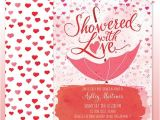 Showered with Love Baby Shower Invitations Watercolor Baby Shower Invitation Diy Print Showered