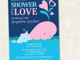 Showered with Love Baby Shower Invitations Whale 39 Shower with Love 39 Baby Shower Invitation