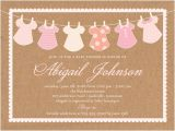 Shutterfly Baby Girl Shower Invitations Clothes Line Girl 4×5 Greeting Card
