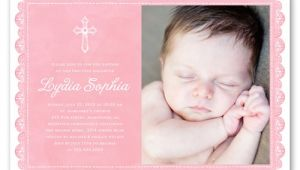 Shutterfly Baptism Invitations Delicate Lace Girl 5×7 Invitation Card