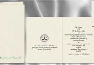 Signature Invitations Graduation the University Of north Carolina at Charlotte Graduation