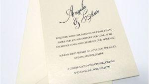 Simple and Elegant Wedding Invitation Template Simple Elegant Script Wedding Invitation by Weddingmonograms