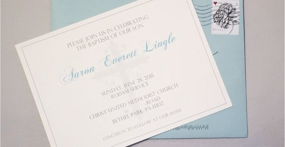 Simple Baptism Invitations Simple & Elegant Baptism Invitations for Baby Boy or Baby Girl