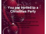 Simple Christmas Party Invitations Free Christmas Party Invitation Template Cimvitation