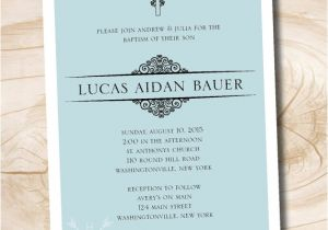 Simple Message for Baptism Invitation Simple Baptism Invitation Munion Confirmation