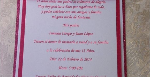 Simple Quinceanera Invitations Simple but Chic Quinceanera Invitation Wedding