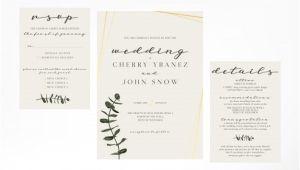 Simple Wedding Invitation Template Simple and Minimalist Feminine Wedding Invitation Template