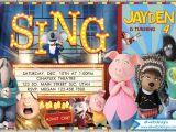 Sing Party Invitations Sing Movie Birthday Invitation Illumination Sing Birthday