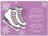 Skating Party Invitation Template Free Ice Skating Birthday Invitations Ideas Bagvania Free