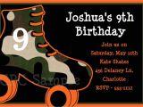 Skating Party Invitations Free Printables Boys Rollerskating Birthday Invitation Boys Roller Skating
