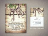Skeleton Key Wedding Invitations Read More Rustic Wedding Invitation with Skeleton Keys