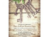Skeleton Key Wedding Invitations Skeleton Keys Rustic Wedding Invitations Zazzle