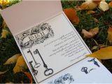Skeleton Key Wedding Invitations Vintage Style Key Wedding Invitation Rustic Wedding Chic