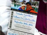 Ski Pass Wedding Invitations Boarding Passes Empire Invites Winnipeg Wedding
