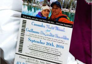 Ski Pass Wedding Invitations Boarding Passes Empire Invites Winnipeg Wedding