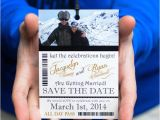 Ski Pass Wedding Invitations Custom Ski Pass Lift Ticket Save the Date Wedding