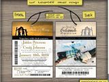 Ski Pass Wedding Invitations Custom Ski Pass Wedding Invitations From Winnipeg Canada
