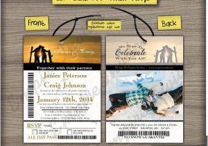 Ski Pass Wedding Invitations Custom Ski Pass Wedding Invitations From Winnipeg Canada