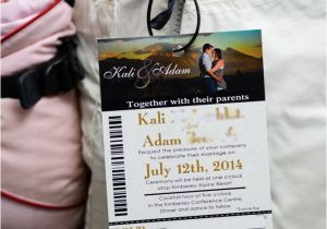 Ski Pass Wedding Invitations Gold Ski Pass Lift Ticket Wedding Invitations to