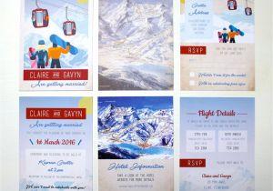 Ski Pass Wedding Invitations Rodo Creative Bespoke Wedding Stationery Ski Pass Wedding