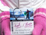 Ski Pass Wedding Invitations Ski Pass Lift Ticket Wedding Invitations Snowboard themed
