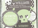 Skull Baby Shower Invitations Skull Baby Shower Invitation Rocker Invite