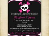 Skull Baby Shower Invitations Zebra Skull Baby Shower Invitation Printable by Fourleafprints