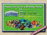 Skylander Birthday Invitations Free Custom Birthday Party Invitations Skylanders Invitation