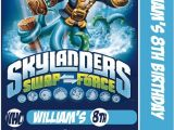 Skylander Birthday Invitations Skylander Swap force Card Birthday Party Invitation