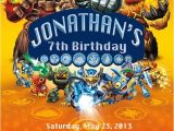 Skylander Birthday Invitations Skylanders Birthday Party Invitation by
