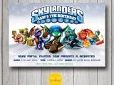 Skylander Birthday Invitations Skylanders Boy Birthday Invitation Personalised Printable Any