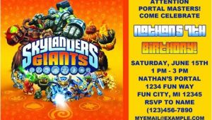 Skylanders Birthday Invitations Printable Printable Skylanders Birthday Invitation