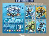 Skylanders Birthday Invitations Printable Skylanders Birthday Invitation Skylanders by Emryprints