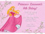 Sleeping Beauty Birthday Party Invitations Sleeping Beauty Princess Aurora Birthday Invitation