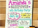 Slumber Party Invitation Ideas Sleepover Invitation Doodle Teen Notebook Sleepover
