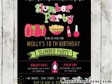 Slumber Party Invitation Ideas Slumber Party Invitations Pink Green Girls Sleepover