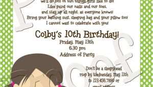 Slumber Party Invitation Poem Cute Sleepover Poem Bethany S Birthday